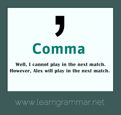 Punctuation - comma usage