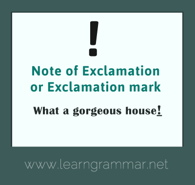 Punctuation - exclamation mark usage