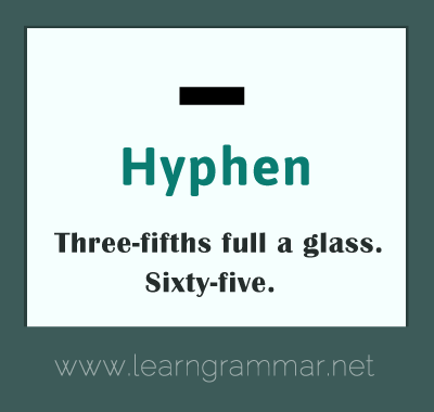 Punctuation - hyphen-usage