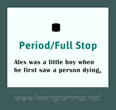 Punctuation - period usage