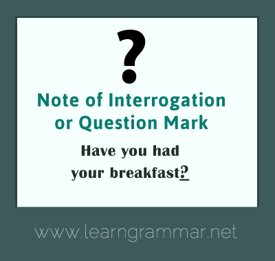 Punctuation - question mark usage